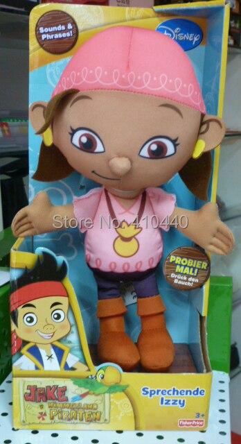 Nuevo en caja caja Jack y el pirata Neverland hablar suaves juguetes - Izzy