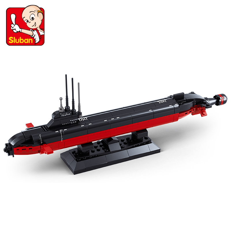 Sluban Building Block WW2 Military Nuclear Submarine 193pcs Educational Bricks Toy Boy No Retail Box