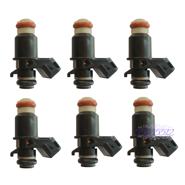 ФОТО 6Pcs Fuel Injector 16450-MCA-013 16450-MCA-003 Fit HONDA GOLDWING GL1800