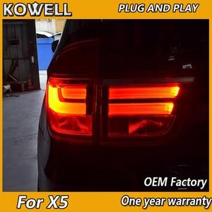 Image 2 - Kowell Styling Auto Lampada di Coda per Bmw E70 X5 Luci di Coda 2007 2013 per E70 Posteriore Luce Drl + indicatori di Direzione + Freno + Reverse