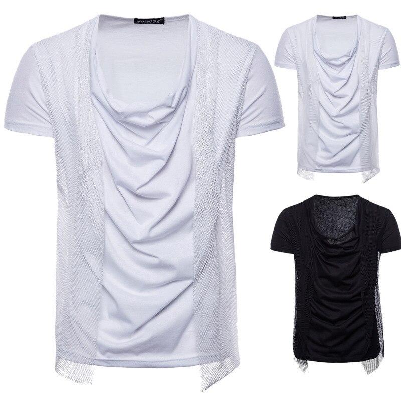 Summer Men's Fashion tshirts Short Sleeve T shirts Shirt casual mens clothing brand Hip Hop Mesh Pullover Tops