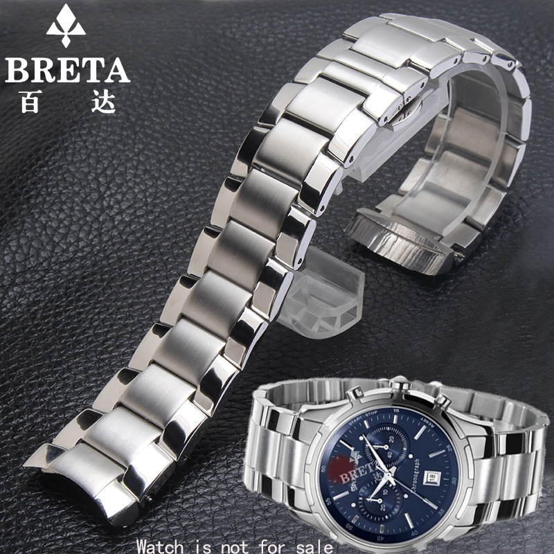 High quality AR0585 AR0527 ar0583 ar0584 watch steel strap 23MM silver solid stainless steel strap butterfly buckle+T00L 5565 0583