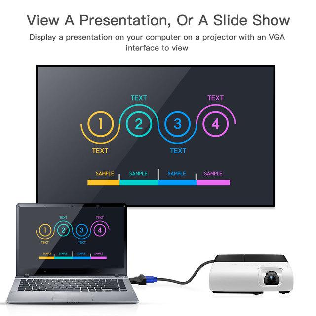 Displayport DP Male To VGA Female Adapter