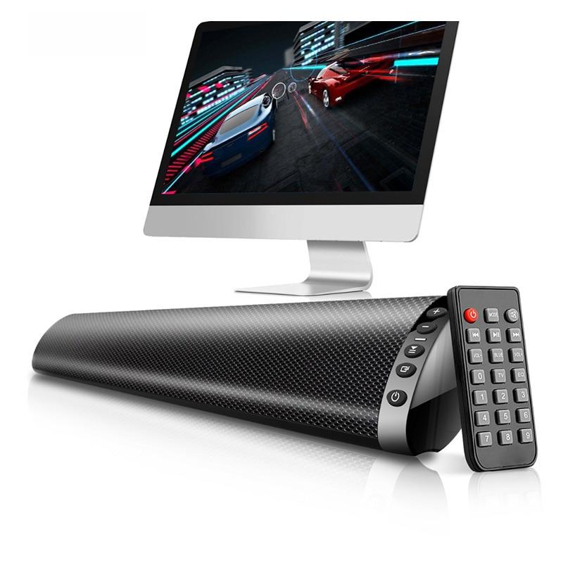 Bluetooth 5.0 FM barre de son sans fil haut-parleur 20 W Home cinéma colonne Surround système de son stéréo haut-parleur mural