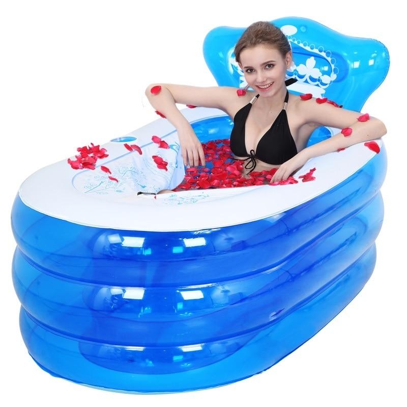 Basen Ogrodowy Kids Pool Bad Shampooer Opblaasbaar Adulto Portable Sauna Banheira Inflavel Bath Tub Adult Inflatable Bathtub