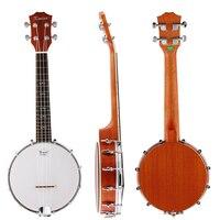 Kmise 4 String Banjo Ukulele Ukelele Uke Concert 23 Inch Size Sapele With Bag Tuner