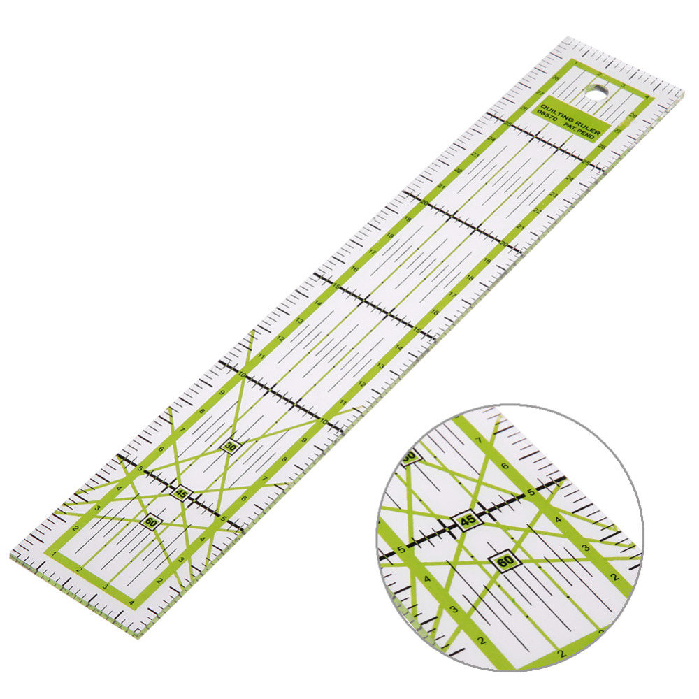 Transparent Acrylic Sewing Patchwork Ruler 5x30cm Quilting Feet Tailor Ruler Handmade Tool School Student Office Stationery Gift