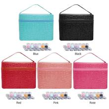 84 Bottles PU Leather Diamond Painting Charms Rhinestones Tool Storage Bag Diamant Diamond Painting Accessories