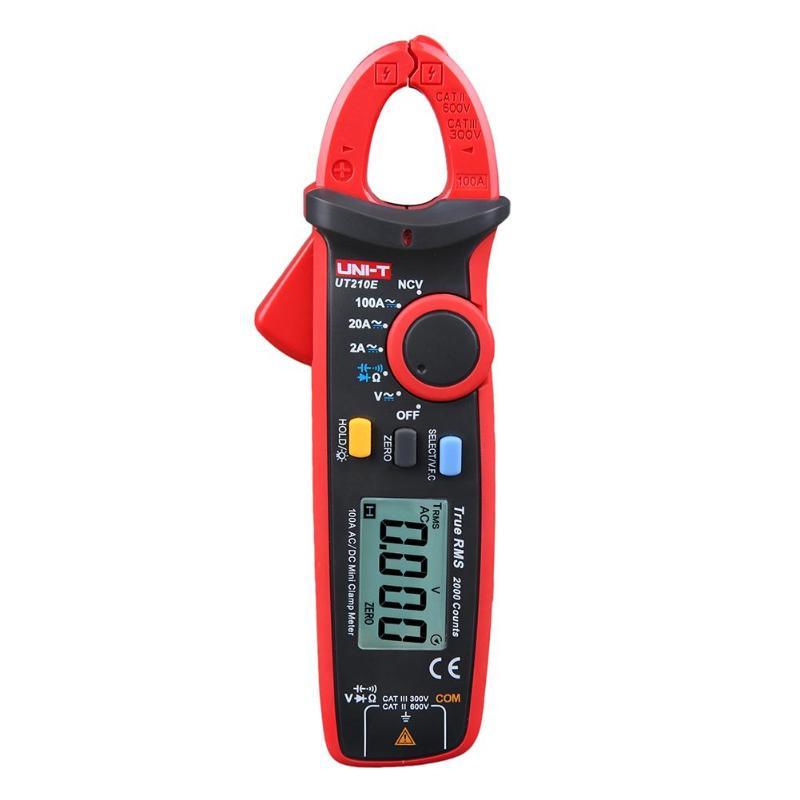 UNI-T UT210E True RMS Mini Digital Clamp Meters AC/DC Current Voltage Auto Range VFC Capacitance Non Contact Multimeter Diode цена
