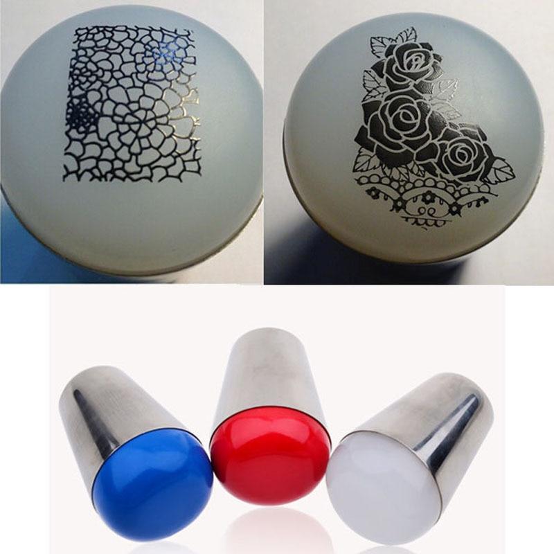 1pc XL Stamper Squishy Marshmallow Big Nail Art Stamper Nail Tool Clear Nail Stamper