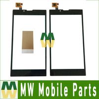 1 Pc/lote Alta Qualidade Para Archos 55 platinum Toque Substituição Digitador Da Tela Parte Cor Preta com Fita