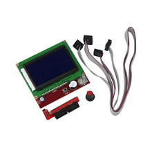Venta caliente Kit Smart Parts RAMPAS 1.4 Controlador de Impresora 3D Panel de Control LCD 12864 Monitor de Pantalla Motherboard Módulo de Pantalla Azul