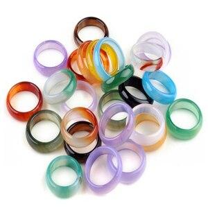 Image 5 - PINKSEE 50 Teile/los Mixed Jahrgang Natürliche Naturstein Ring Für Frauen Unisex Mode Charme Fingerringe Schmuck Geschenke Großhandel