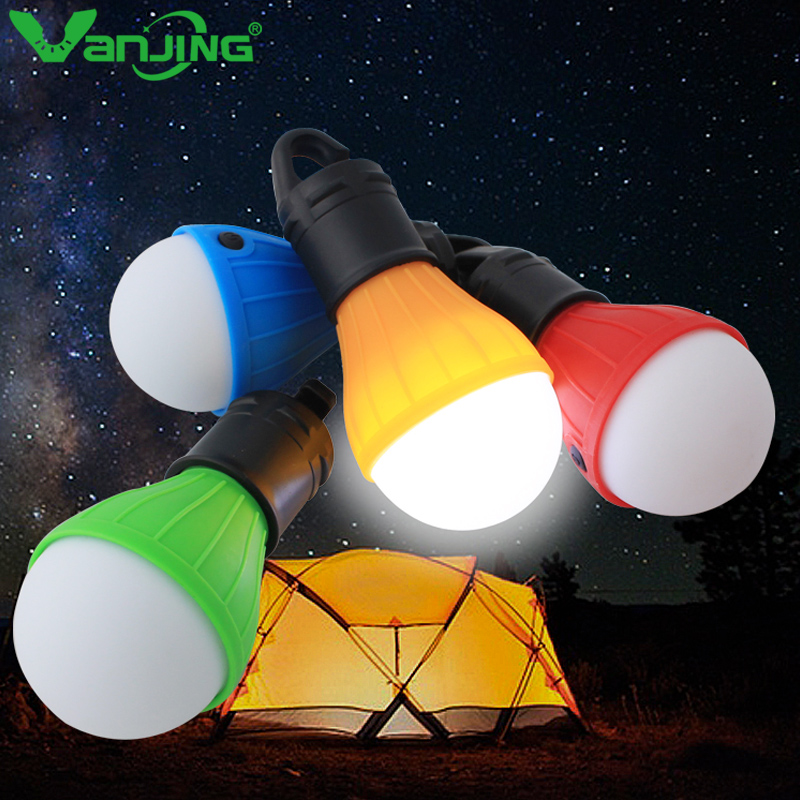 Portable LED Lanters Bulb Emergency Camping Tent Soft Light Outdoor Hanging Fishing Lantern Hiking Lamp SOS 3Type