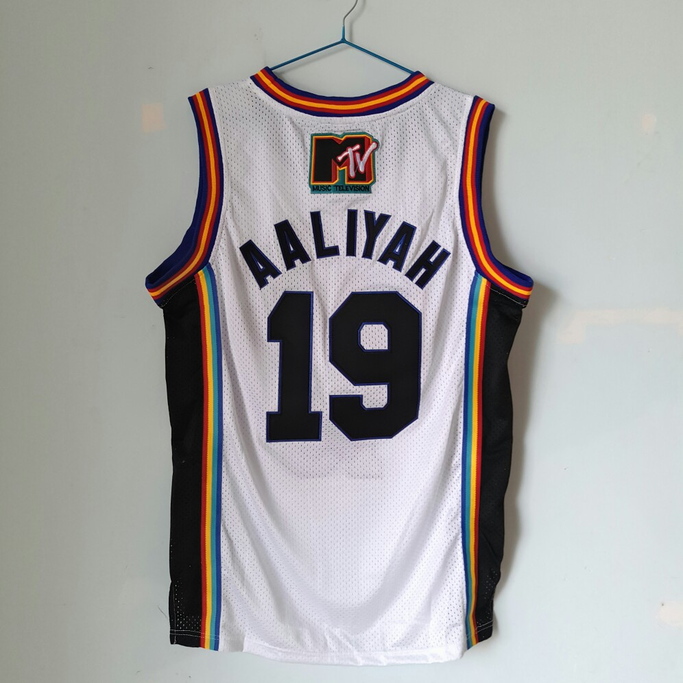 19 Aaliyah BrickLayers Rock N Jock Basketball Jersey White size extra  small XS S 3xl-in Basketball Jerseys from Sports   Entertainment on  Aliexpress.com ... 34fea96e8