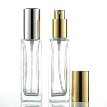 1pcs 30ml rectangular Glass perfume bottle Anodized aluminum fine mist spray cosmetic Sub-bottle wholesale BQ179