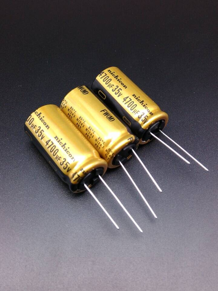 2018 hot sale 30PCS Nichicon FW 4700uF/35V genuine stock 4700uf 35v for capacitor 18*35.5 free shipping