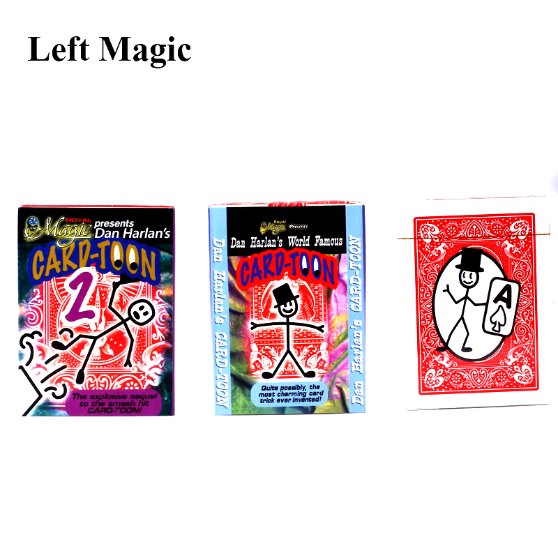 Magic Cartoon Cardtoon Deck Magic Tricks Pack Playing Card Toon Animation Prediction Funny Magic Magic Props Gimmick Toys