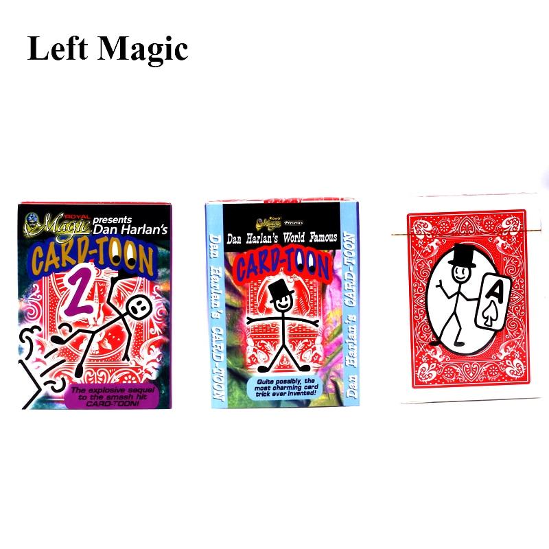 Magic Cartoon Cardtoon Deck Magic Tricks Pack Playing Card Toon Animation Prediction Funny Magic Magic Props Gimmick Toys обучение фокусам card magic