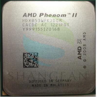 AMD Phenom II X2 B53 X2 B53 2.8GHz Dual-Core CPU Processor HDXB53WFK2DGM 80W Socket AM3 938pin
