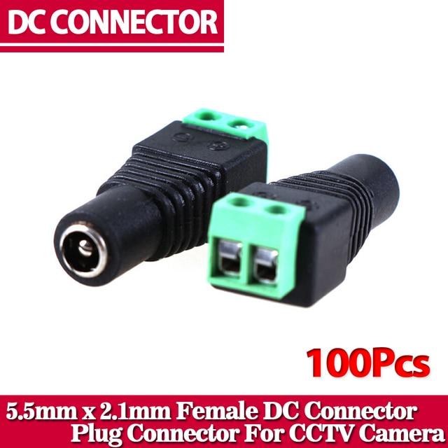 Connecteur DC femelle 100/5.5mm CCTV