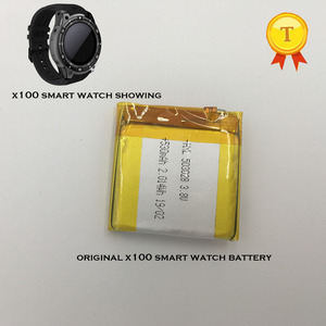 Image 1 - new Rechargeable watch Battery For SmartWatch phone watch x100 smart watch phonewatch saat clock hour 530mah capacity battery