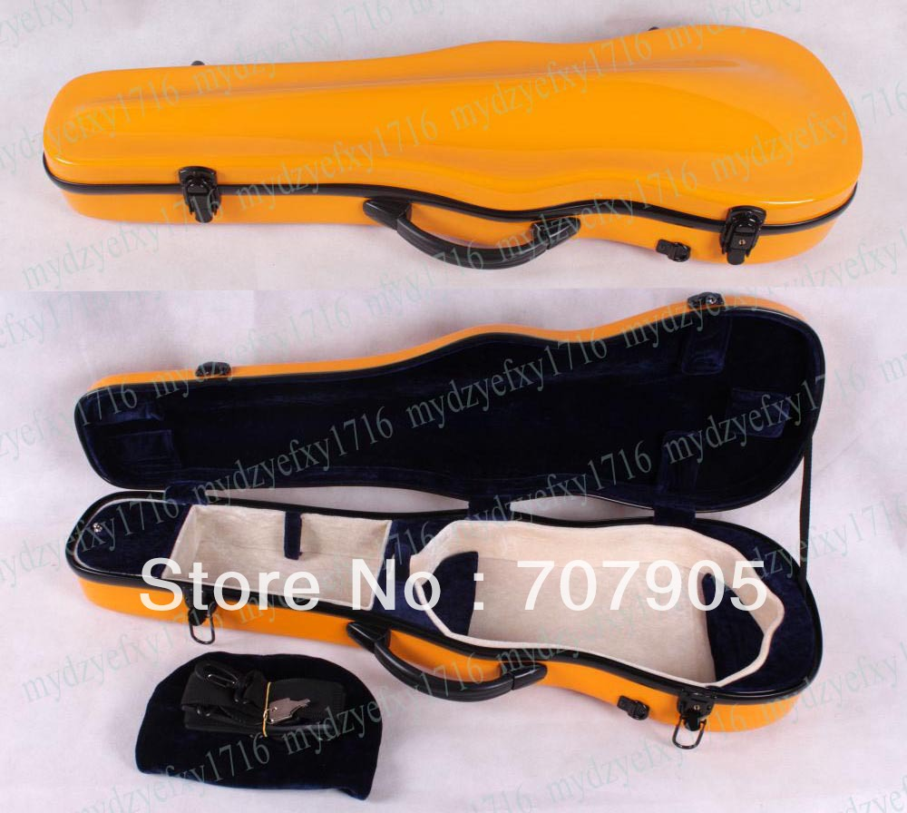 ФОТО 4/4 violin Glass fiber case Waterproof Light Durable reinforced Dropshipping Wholesale High quality Yellow