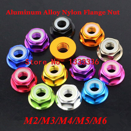 size M5-6 pcs blue Anodised nut
