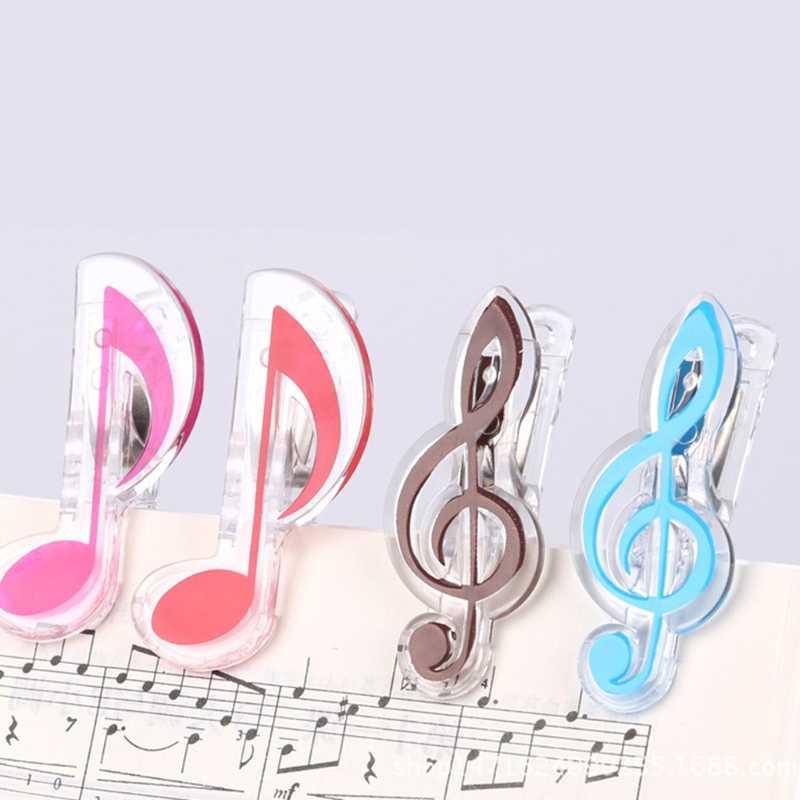1 PC Libro Musicale Nota Clip di Plastica Clip di Musica per Pianoforte di Pagina del Libro Della Clip Treble Clef Clip