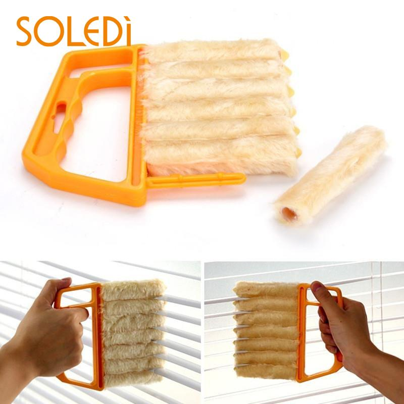 Brush Louver Window Cleaner Easy Clean Windshield Tool Wiper Household Gadget