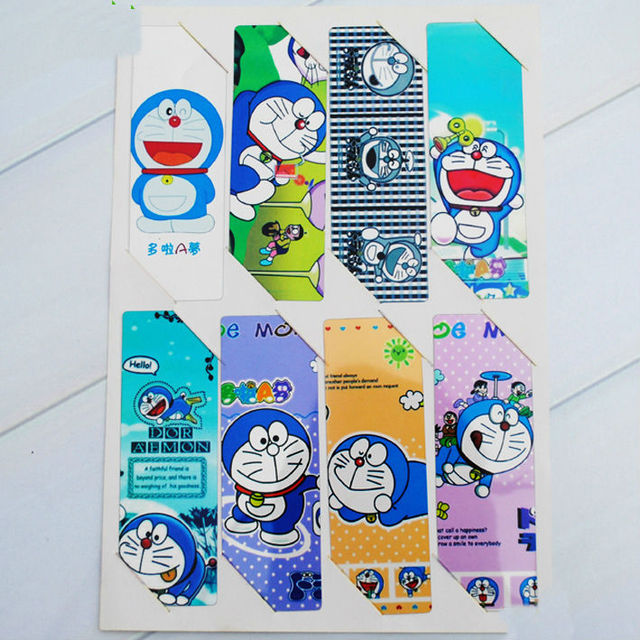 2 Sets 16pcs Anime Manga Around PVC Bookmarks For My Neighbor Totoro Doraemon