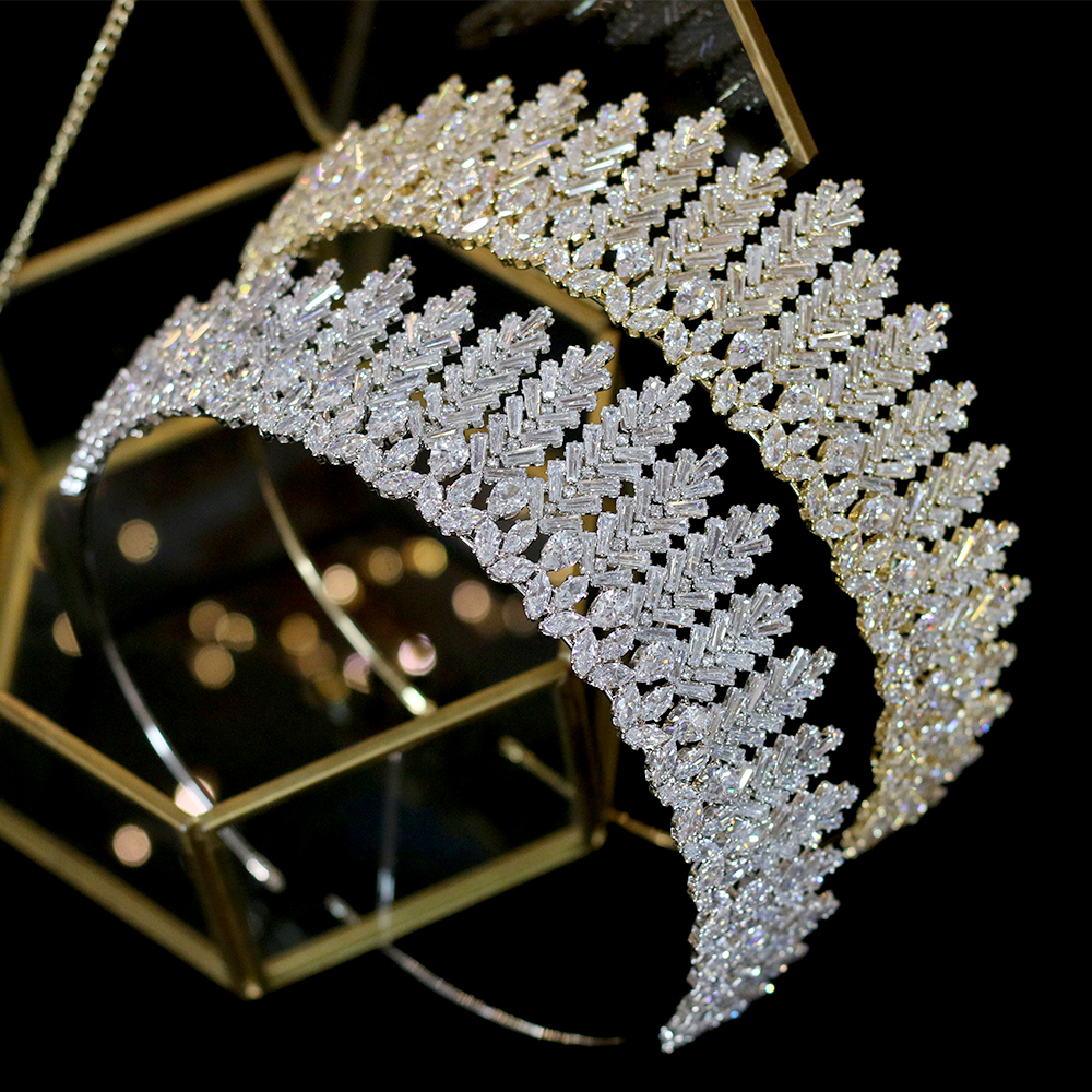 ASNORACubic zirconia bridal wedding tiara crown headband ladies party jewelry accessoriesASNORACubic zirconia bridal wedding tiara crown headband ladies party jewelry accessories