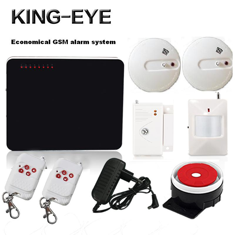 433mhz wireless call GSM SMS alarm systems security home with fire alarm smoke detector PIR motion sensor Russian voice prompt yobang security wifi gsm wireless pir home security sms alarm system glass break sensor smoke detector for home protection