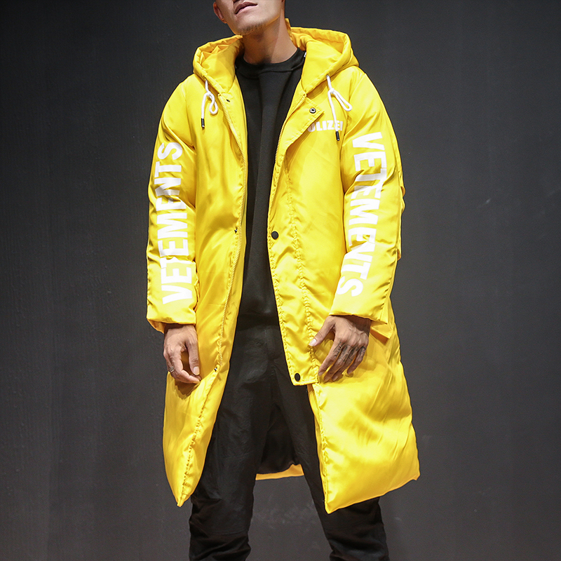 Men Winter Thick Blue Black Yellow Hooded Parka Jacket Male Women Street Hip Hop Fashion Casual Loose Cotton Coat Mens Overcoat infinity kids 32134510002