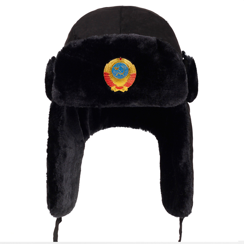 Winter Hat Russian-Cap Aviator Trapper Bomber-Caps Ear-Flaps CCCP Feng Proof Lei Outdoor