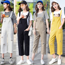 Hole Ripped Jeans Jumpsuits Womens Streetwear Strap Denim Overalls Female Suspen