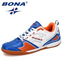 BONA 2019 New Designer Men รองเท้าฟุตบอลกลางแจ้งรองเท้าฟุตบอลชายรองเท้ากีฬารองเท้าชายหนัง Comfortab