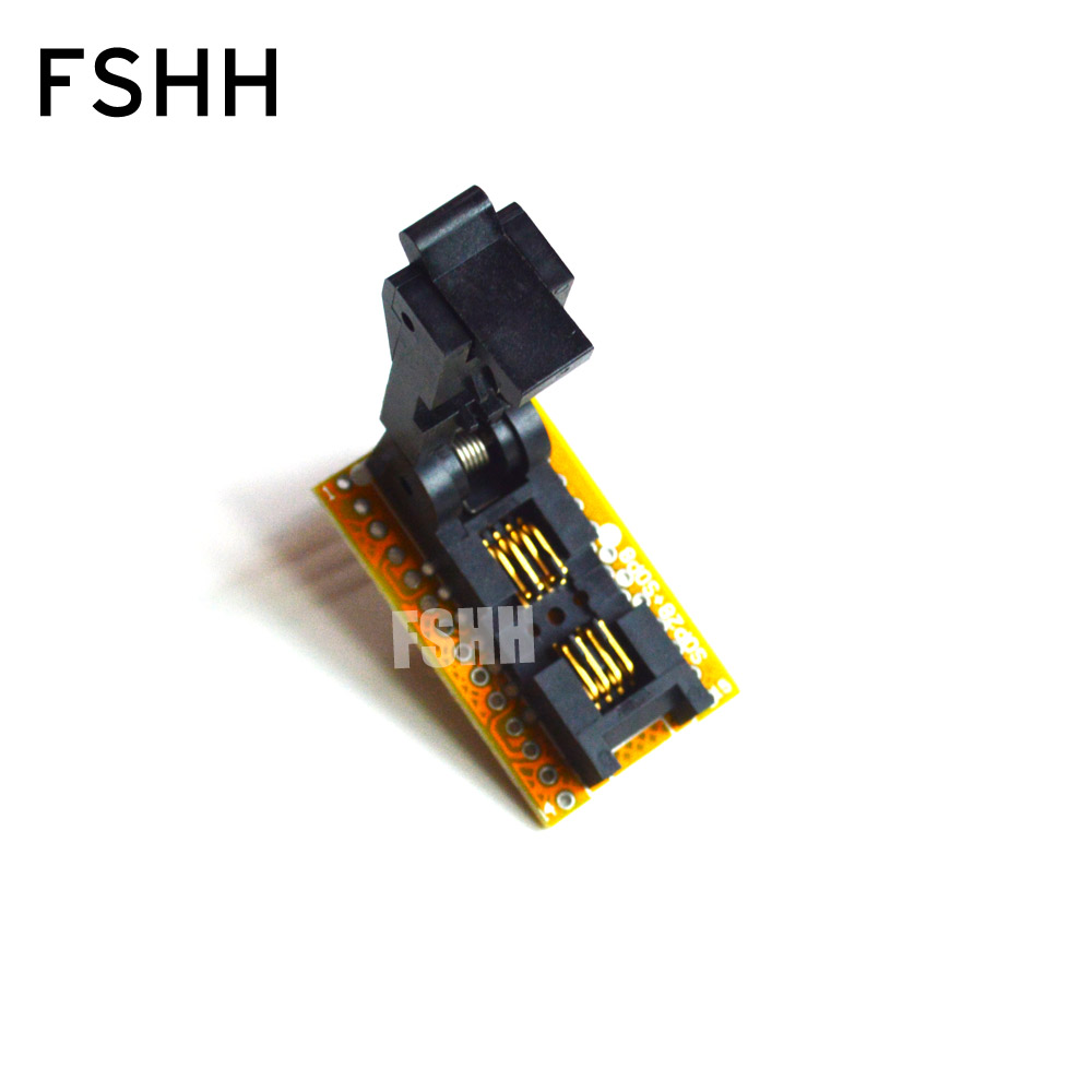 SOP8-DIP8 Programmer Adapter SOIC8/SO8/FP8 to DIP8 Adapter/IC SOCKET/IC Test Socket (208-7391 Flip test seat) soic8 sop8 dip8 flash chip ic test clips socket adpter bios 24 25 93 programmer