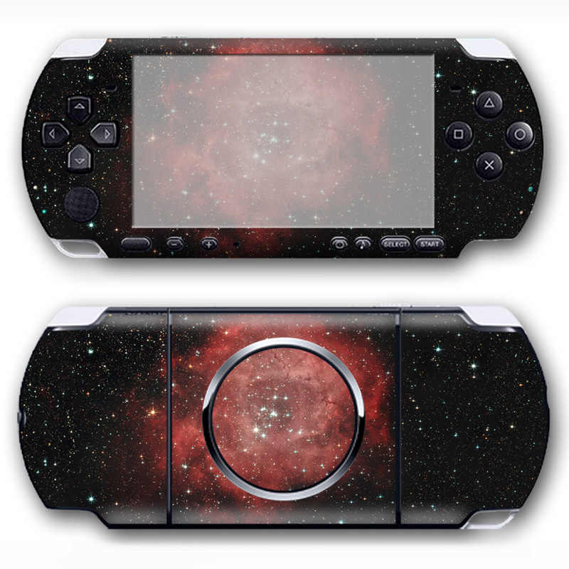 Free drop shipping for pink starry sky design sticker for Sony PSP 3000 Skin Stickers Front and Back Decal  #TN-PP3000-619
