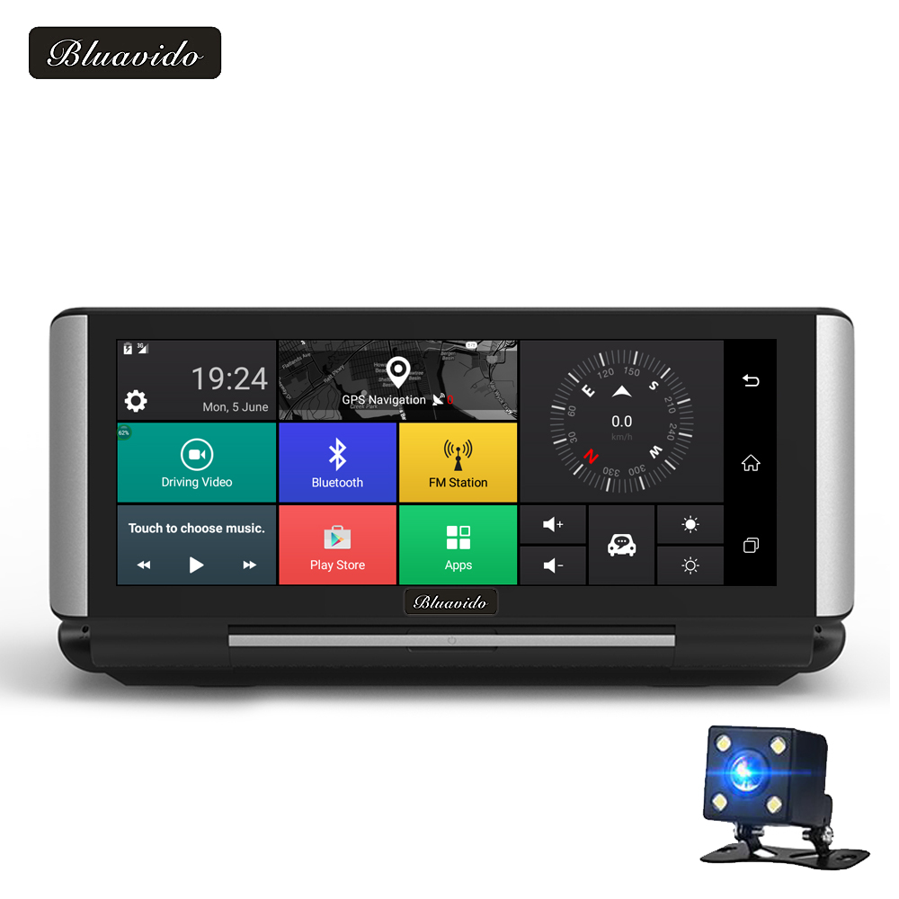 Bluavido 6.86 Car DVR GPS Navigation 4G Android 5.1 ADAS Full HD 1080P Car Video Camera Recorder WIFI Dual Lens Reverse image pvt 898 5g 2 4g car wifi display dongle receiver airplay mirroring miracast dlna airsharing full hd 1080p hdmi tv sticks 3251