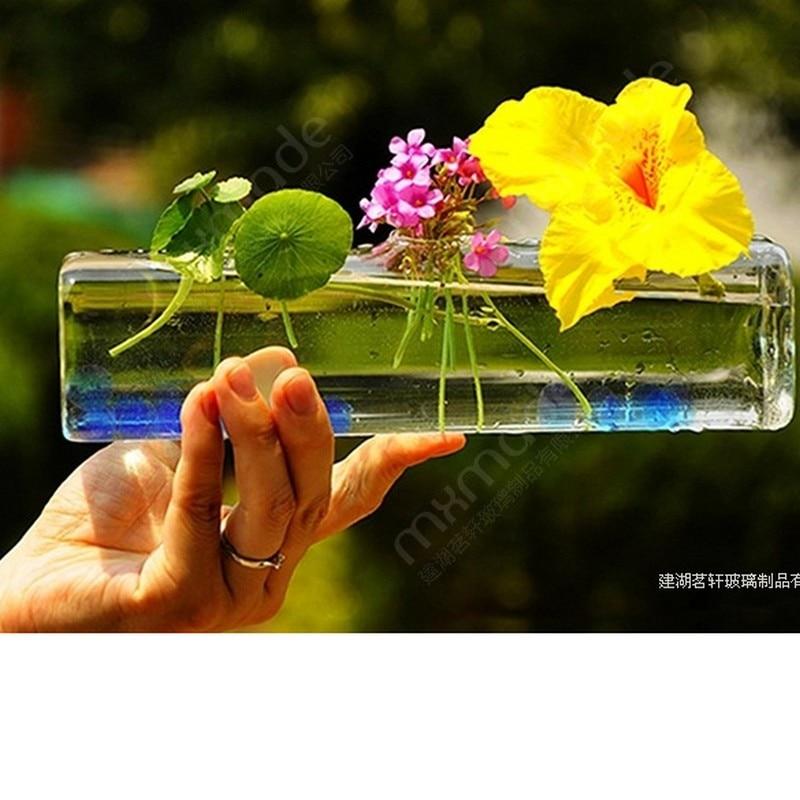 nuevo de la moda florero de cristal cuadrado con agujeros floreros de vidrio