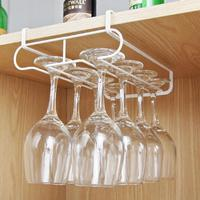 Stainless Steel Wine Glasses Holder Wine Goblet Rack Kitchen Bar Wall Hanging Wine Glass Cup Holder