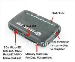 Dropship Новый USB 2,0 все в одном устройство чтения карт памяти SD CF MMC MS