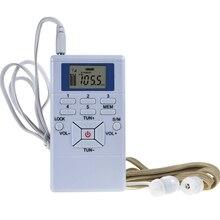 Цифровой fm-радио мини-динамик портативный ресивер дисплей двухканальный однодиапазонный музыкальный плеер светодиодный дисплей Встроенная антенна комплект