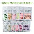 12 Estilos DIY Nails Art Stickers Transferencia de Agua Etiqueta Engomada Del Clavo y Calcomanías de Agua Del Clavo 3D Foil Pegatina Tips Manicura Envío gratis