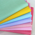 100% cotton twill cloth green yellow blue purple pink polka dots fabrics for DIY kid crib bedding decor craft patchwork quilting
