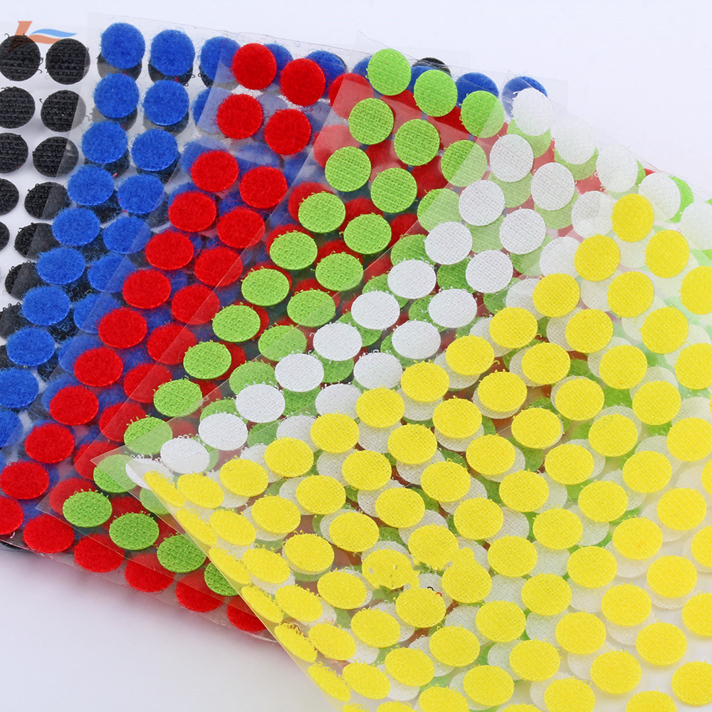 100Pair 10mm-15mm Adhesive Fastener Tape Dots Sticky Back Hook And Loop Magic Sticker Double Sided Round Self-Adhesive