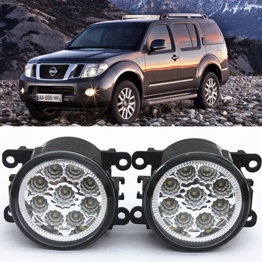 For NISSAN Navara D40 Pickup  2005-2015 Car-Styling Led Light-Emitting Diodes DRL Fog lamps 1set for nissan x trail t30 2001 2006 car styling led light emitting diodes drl fog lamps