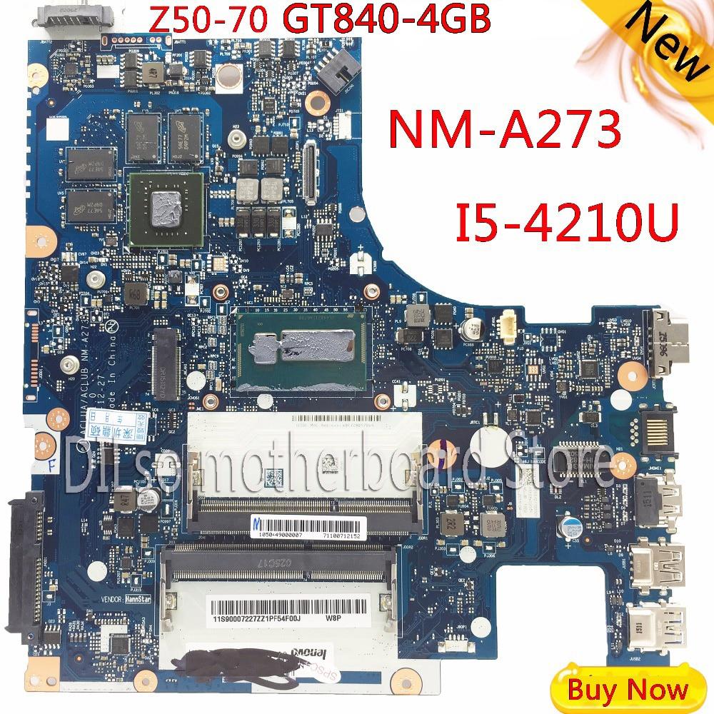 KEFU G50-70M Pour Lenovo G50-70 Z50-70 i5 carte mère ACLUA/ACLUB NM-A273 Rev1.0 avec GT840M carte graphique Test