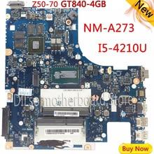 KEFU G50-70M Voor Lenovo G50-70 Z50-70 i5 moederbord ACLUA/ACLUB NM-A273 Rev1.0 met GT840M videokaart Test